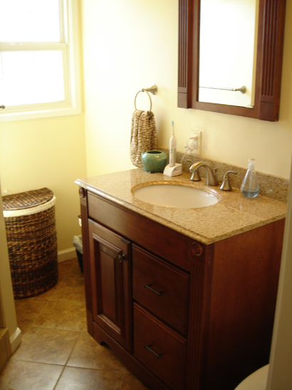 Whittier bathroom remodel completed.