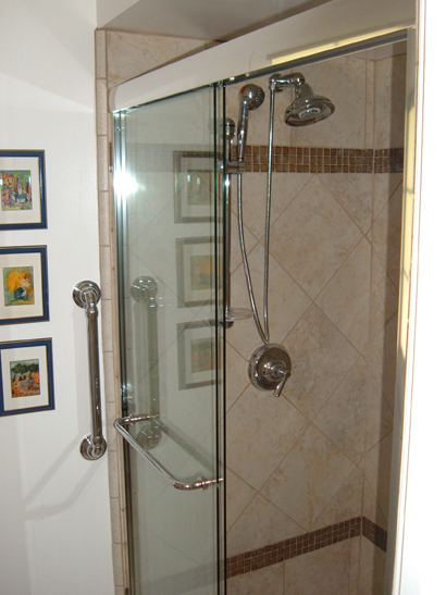 Whittier shower remodel completed.